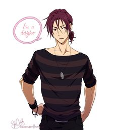 Rin's ponytail, Why is it so hot? 5 Anime, Free Anime, Anime Guys, Free Characters, Anime Characters, Anime Guy Long Hair, Anime Hair Male, Anime Hairstyles Male, Free Eternal Summer