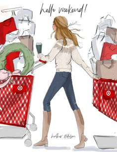 We are right in the middle of holiday shopping season! How's your list coming along? We are all real behind around here haha. Who's done shopping? Bon Weekend, Hello Weekend, Happy Weekend, Christmas Quotes, Christmas Pictures, Christmas Messages, Christmas Art, Christmas Decorations, Sassy Pants