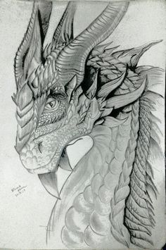 Realistic Dragon Drawing, Cool Dragon Drawings, Dragon Sketch, Dragon Artwork, Ink Pen Drawings, Drawing Sketches, Drawing Ideas, Fantasy Creatures, Mythical Creatures