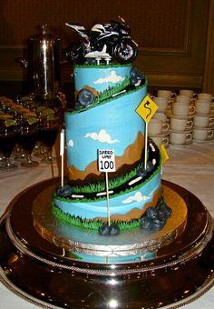 Motorcycle groom's cake from Sweet Treets Bakery! https://www.facebook.com/SweetTreetsBakery