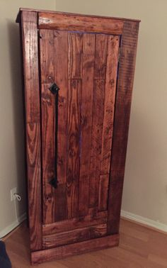 My Husbands New Gun Cabinet!! He Did A Great Job! Woodworking FurnitureWoodworking  PlansWoodworking ...