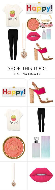 """fry day"" by princess-elise-britton ❤ liked on Polyvore featuring Edie Parker, Dsquared2, Wolford, Milani, Calvin Klein, Thomas Sabo, Lime Crime and Cara"