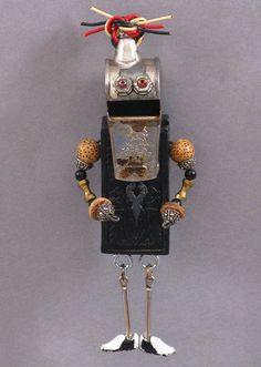 ART MAGNET Upcycled magnet Assemblage by CastOfCharacters23