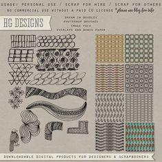 Scrapbooking TammyTags -- TT - Designer - HG Designs, TT - Item - Page Overlay, TT - Item - Border