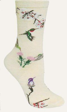 Wheel House Designs Hummingbirds Novelty Socks
