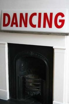 Dancing - Retro Perspex Sign