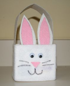 easter+basket+crafts | Milk Carton Easter Bunny Basket