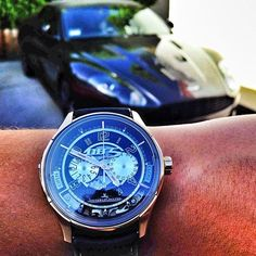 Jaeger LeCoultre Amvox2 DBS Transponder x the matching Aston Martin DBS Volante. INCREDIBLE!