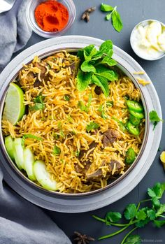 This recipe for Lamb Curry is complete one pot meal. Rice are cooked in the yogurt lamb curry gravy soaking up all the flavor.