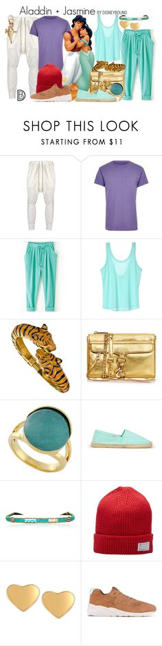 """""""Aladdin + Jasmine"""" by leslieakay ❤ liked on Polyvore featuring DRKSHDW, River Island, WithChic, Victoria's Secret, Kenneth Jay Lane, Rebecca Minkoff, Cole Haan, Soludos, Ziio y Visvim"""
