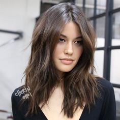 """Cherin Choi (@mizzchoi) on Instagram: """"Full highlights for natural brunette hair with dimension and texture #hair #haircolor #color…"""""""