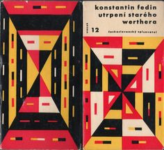 The Sorrows of Old Werther by Konstantin Fedin. Czech book cover.