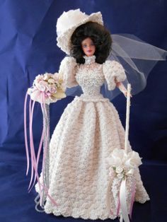 HAND CROCHET PARADISE BARBIE BRIDE DOLL