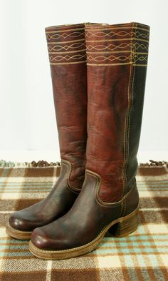 Vintage Frye Campus Cowboy Boots Oxblood by AllWhoWanderClothing