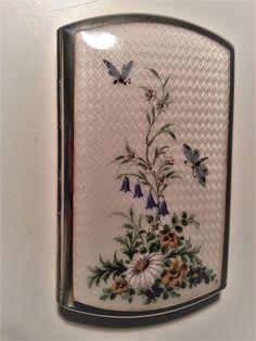 Guilloche enamel silver cigarette-box by Georg Adam Scheid of Vienna. Present collection.