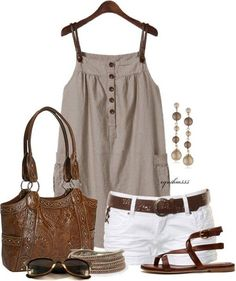 150 pretty casual shorts summer outfit combinations (104)