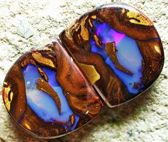 Yowah Nut Split, Boulder Opal Pair