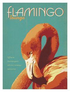 Flamingo Stampa artistica