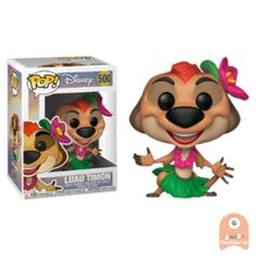The Lion King Luau Timon Pop! Vinyl Figure : Disney classics like The Lion King ain't no passing craze! The Lion King Luau Timon Pop! Vinyl Figure measures approximately 3 tall. Comes packaged in a window display box. Disney Pixar, Disney Pop, Figurine Pop Disney, Pop Figurine, Le Roi Lion Disney, Disney Lion King, Pop Vinyl Figures, Lion King Toys, Luau
