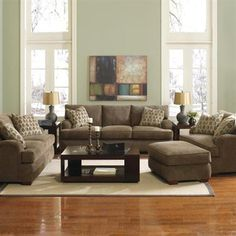Klaussner Vaughn Sofa Set  The Vaughn collection has long been a relaxed, comfortable favorite. Low profile arms complete with pleating details, exposed