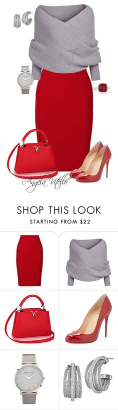 """""""Untitled #616"""" by angela-vitello on Polyvore featuring Roland Mouret, Christian Louboutin, Larsson & Jennings, Charriol and Fantasia"""