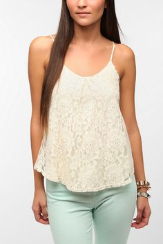 Pins and Needles Lacey Swing Cami  #UrbanOutfitters