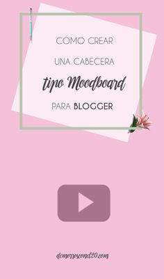 Como crear facilmente una cabecera tipo moodboard para tu blog.