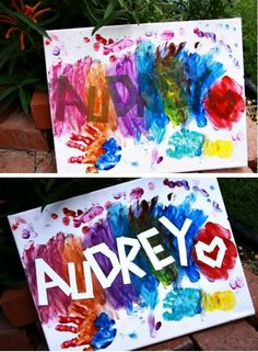 Name painting for kids (autumn activities for kids crafts) Easy Crafts For Kids, Craft Activities For Kids, Crafts To Do, Diy For Kids, Painting Crafts For Kids, Babysitting Activities, Painting For Babies, Infant Art Projects, Kids Craft Projects
