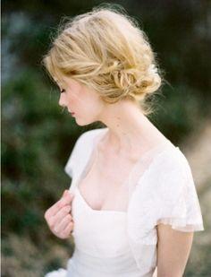 wedding braid for shorter hair.