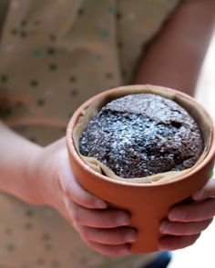 Chocolate Flower Pot Cake by themakergirl: Great for Earth Day! #Ckae #Chocolate #Flower_Pot #Earth_Day