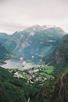 Geiranger Fjord, Norway.  Go to www.YourTravelVideos.com or just click on photo for home videos and much more on sites like this.