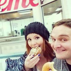 Mmm donut date! #krispykreme #rainyday #lottalatte #bestfriends  Instagram - branolabar