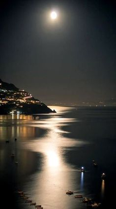 Wonderful view of the Moon in Positano, Italy- needless to say more eh? (: