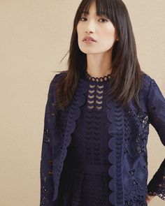 DALMY Scalloped lace jacket #TedToToe