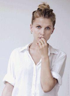 Clemence Posy white shirt