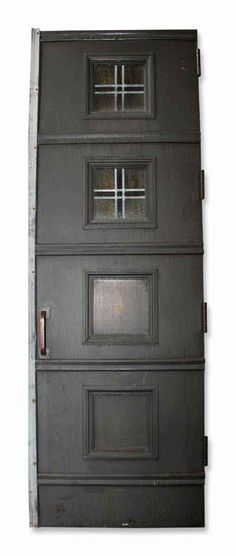 Antique Bronze Double Entry Doors With Four Panels. The Condition Is Good  With The Original