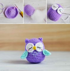 #Cute I'm not quite advanced enough to do this yet, but I will keep practicing! @Katherine Cook How to Make Amigurumi Crochet Owl - Crochet - Handimania