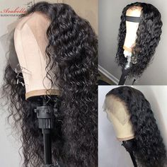 A lace front wig only has lace in the front half of the wig, to allow the wearers to part the hair any way he or she wants. You can get your lace front human hair wig instantly witha moderate lace parting line wig or a very deep lace parting line wig. Indian Hairstyles, Wig Hairstyles, Mommy Hairstyles, 100 Human Hair, Human Hair Wigs, Lace Front Wigs, Lace Wigs, 360 Lace Wig, 360 Frontal Wig