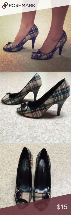CUTE!!! Plaid heels Super cute!! Plaid print. Worn only twice. In good condition. Charlotte Russe Shoes Heels