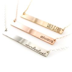 Personalized Bar Necklace - Hand St&ed with Your Custom Text. Unique Gifts For MomPersonalized ...  sc 1 st  Pinterest & 31 Best Personalized Gifts For Mom images | Personalised gifts for ...