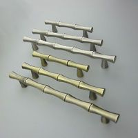 1x Bronze Bamboo Drawer Dresser Pull Handles Kitchen Cabinet Door Handle 64 ~128
