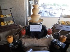 Fondue Station #valleybrookweddings #valleybrookcountryclub