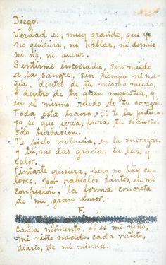 Cartas de Frida Kahlo a Diego Rivera. (letters beween Frida and Diego)