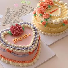 Pretty Birthday Cakes, Pretty Cakes, Beautiful Cakes, Amazing Cakes, Cake Birthday, Korean Cake, Cute Baking, Caking It Up, Cute Desserts