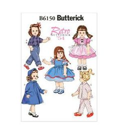 Butterick Pattern B6150-Osz-18 Doll Clothes-One Size Only
