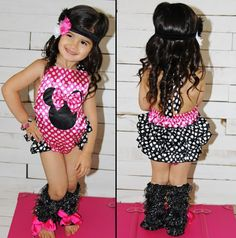 8c3c0f8333ee Pink Minnie Mouse Bubble Romper www.sparkleinpink.com Pink Minnie