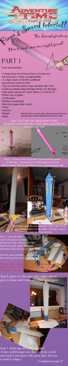 Fiona's Sword Tutorial part 1 by SugarplumFruitBerry