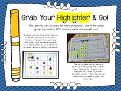 HIGHLIGHT-A-LETTER! {LETTER IDENTIFICATION} - TeachersPayTeachers.com