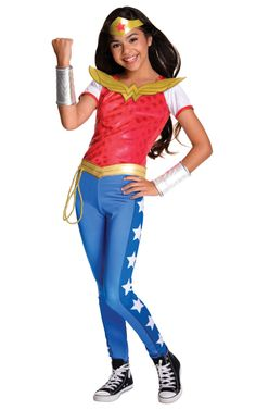 The DC SuperHero Wonder Woman Deluxe Girls Costume is the best 2019 Halloween costume for you to get! Everyone will love this Girls costume that you picked up from Wholesale Halloween Costumes! Wonder Woman Film, Superman Wonder Woman, Wonder Woman Outfit, Wonder Woman Superhero, Wonder Women, Girl Superhero Costumes, Superhero Fancy Dress, Super Hero Costumes, Girl Costumes