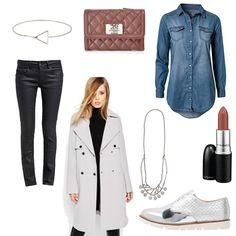 OneOutfitPerDay 2016-04-07 Trenchcoat - #ootd #outfit #fashion #oneoutfitperday #fashionblogger #fashionbloggerde #frauenoutfit #herbstoutfit - Frauen Outfit Frühlings Outfit Herbst Outfit Outfit des Tages A Brend Armband ASOS Chino Halskette Hemd Hemdbluse MAC Mantel ONLY Pepe Jeans Pieces Schnürer SPM Stoffhose Trenchcoat Jeanshemd